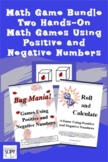 Math Game Bundle - Two Hands-On Math Games Using Positive
