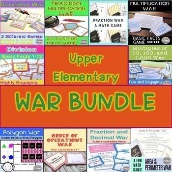 Math Game Bundle Upper Elementary War Games