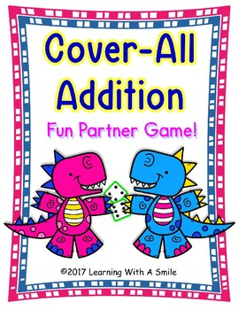 Math Game COVER ALL ADDITION Partner Game (Animal Theme)