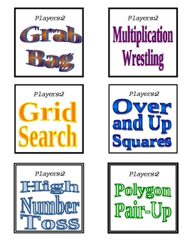 Math Game Cards for Everyday Math Games