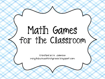 Math Game Cards for the Classroom