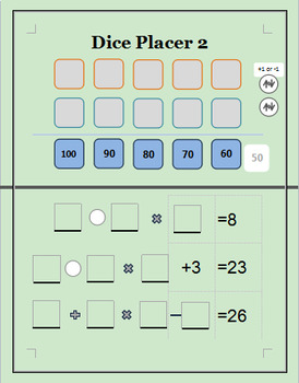 Math Game: Dice Placer