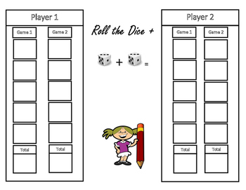 Math Game: Differentiated Instruction, Roll the Dice