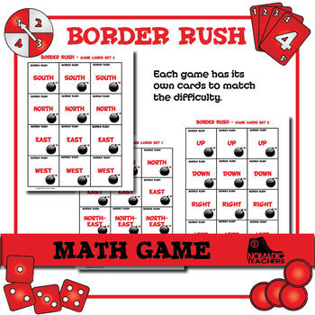 Border Rush - Math Game - Directions and Compass points