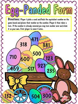 Math Game: Egg -panded Form
