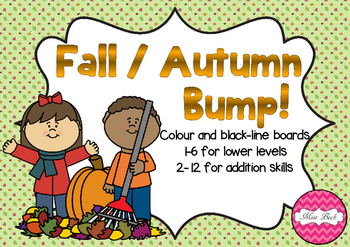 BUMP! Fall / Autumn Themed Game Board
