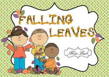 Falling Leaves (Fall / Autumn themed Math game board)