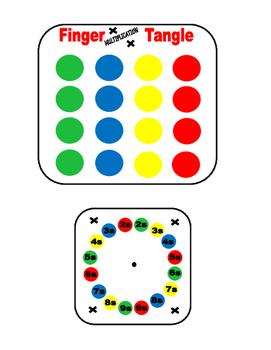 Math Game- Finger Multiplication Tangle