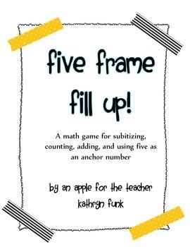 Math Game Five Frame Fill Up