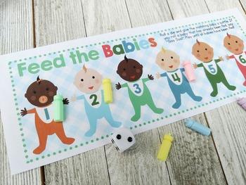 Math Game Freebie- Feed the Babies