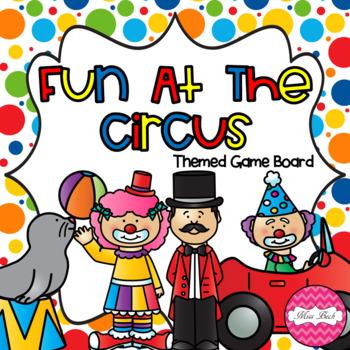 Fun At The Circus (Circus themed Math game board)