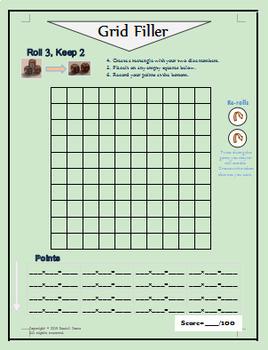 Math Game: Grid Filler
