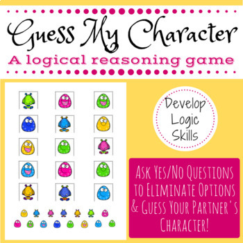 Math Game: Guess My Character (develop logic skills)