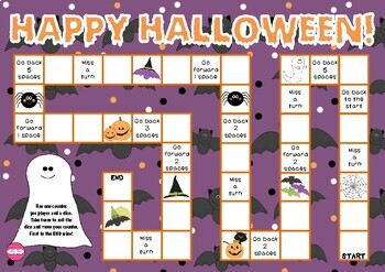 Happy Halloween (Halloween themed Math game board)