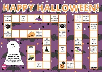 Happy Halloween (Halloween Themed Game Board)