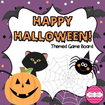 Happy Halloween (Halloween themed Math game board)