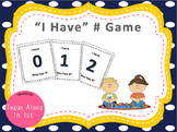 "Math Game ""I Have #"""