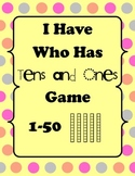 Math Game ~ I Have, Who Has? Tens and Ones Game 1-50