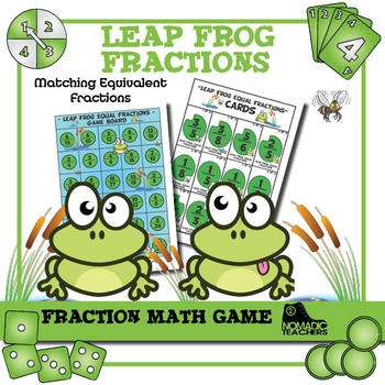 Math Game - Leap Frog Equal Fractions