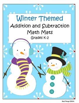 Math Game Mats Winter Themed