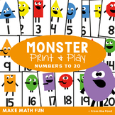 Math Game {Monster} Counting Order
