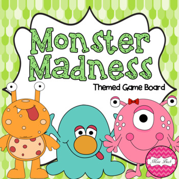 Monster Madness (monster themed Math game board)