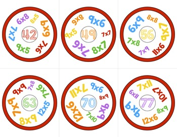 Multiplication Game | Look Around!  Math Game for Multiplication Review
