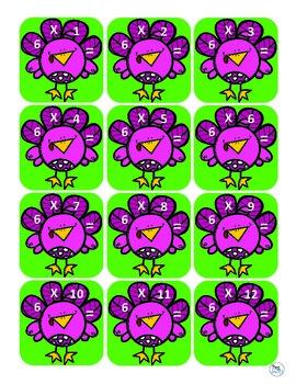 Math Game - Multiplication - Turkey Math Dash!