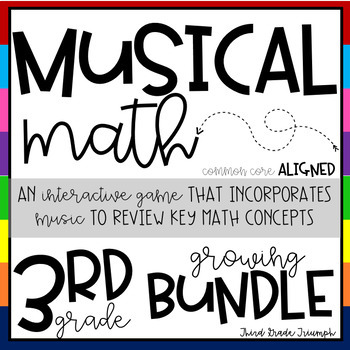 Math Game - Musical Math Growing Bundle Editable
