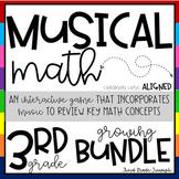 Math Game - Musical Math Growing Bundle Editable