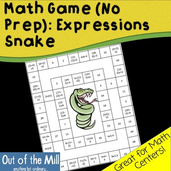 Math Game (No Prep): Expressions Snake
