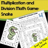 Math Game (No Prep): Multiplication and Division Snake