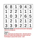 Math Game: Number Cube Plus (2, 10, 11)