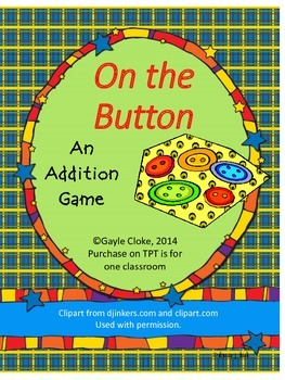 Addition Game:  On the Button