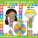 Math Game - One More One Less Numbers to 20