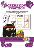Math Game - Operation Fraction - practicing all operations with fractions