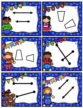 Parallel, Perpendicular, Congruent, & Intersecting Game & Anchor Charts
