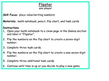 Math Game: Place Value (Flipster)