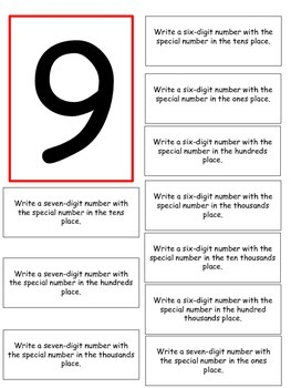 Math Game: Place Value (Pick a Number)