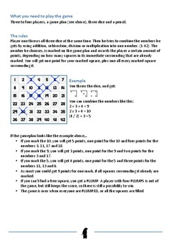 Math Game - Plumped (Practice addition, subtraction, division and multiplication