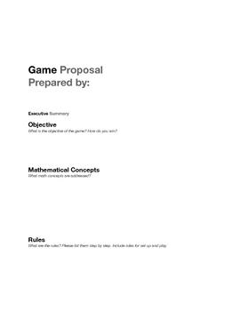 Math Game Proposal