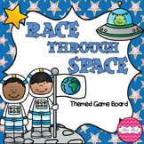 Race Through Space (Space Themed Math Board Game)
