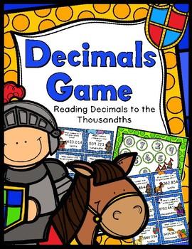 Decimals Game - Reading Decimals to the Thousandths