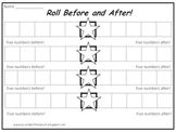 Math Game: Roll Before and After {Number Sense, Patterning, Ordering Numbers}