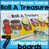 Pirate Math Game- Roll a Treasure 1-6 & 1-12