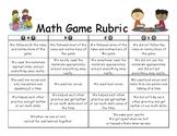 Math Game Rubric
