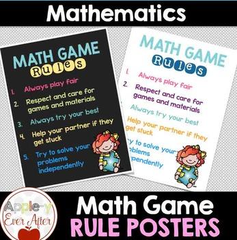 Math Game Rules - FREEBIE