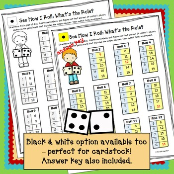 Math Game - See How I Roll Dice Game: Addition
