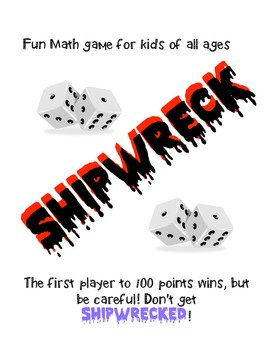 Math Game Shipwreck using Dice