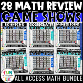 Math Game Show ALL ACCESS Bundle | Math Test Prep Review Activities